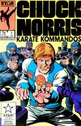 Chuck Norris as he appears on the comic book version of Karate Kommandos