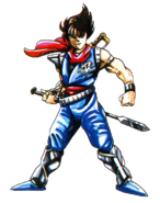 Strider - Strider Hiryu Artwork for the Famicom Version