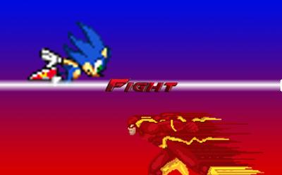 Sonic (Archie) VS Flash Fight