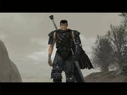 Berserk - Guts as he appears on the Playstation 2 version of Berserk
