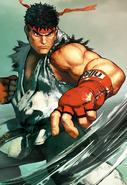 Street Fighter - Ryu's first artwork for Street Fighter V