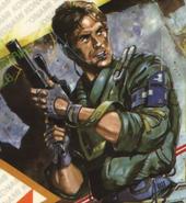 Metal Gear - Solid Snake as he appears in 1987