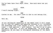 Musical script screenshot of Rem and Misa