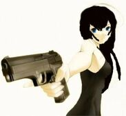 BeFunky t anime girl with gun 170