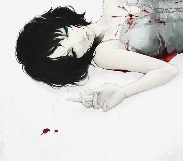 Image Anime Blood Blue Eyes Cute Girl Favim Com 317443