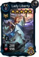 Lady Liberty creature card