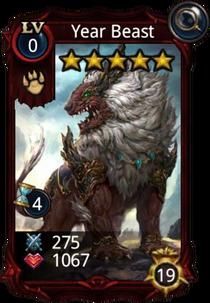 Year Beast creature card