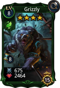 Grizzly creature card