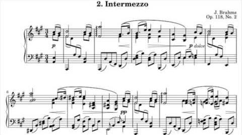 Brahms - Intermezzo in A major, Op. 118 No