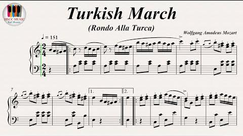 Turkish March (Rondo Alla Turca) Piano Sonata No. 11 K