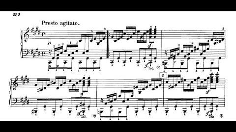Sonata No. 14 Moonlight 3rd Movement - Beethoven (Sheet Music)