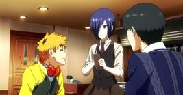 Kaneki, Hide and Touka