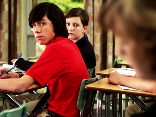 File:Eli & Adam In Their Degrassi Unifoms In A Degrassi Classroom Looking At Clare.jpg