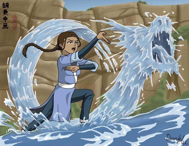 File:Katara s Waterbending by Deerock Gorilla.jpg