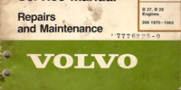 Volvo B27/B28 Engine Manual