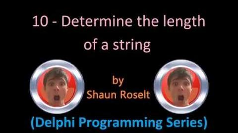 Delphi Programming Series 10 - Determine the length of a string
