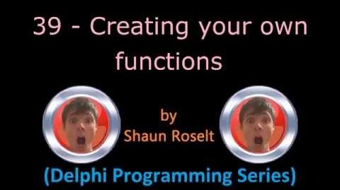 Delphi Programming Series 39 - Creating your own functions