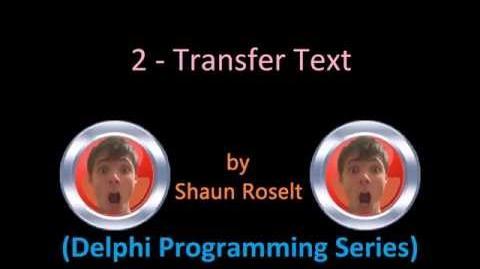 Delphi Programming Series 2 - Transfer Text