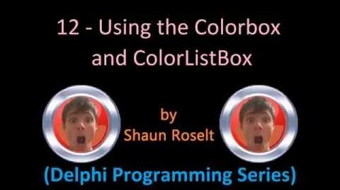 Delphi Programming Series 12 - Using the Colorbox and ColorListBox