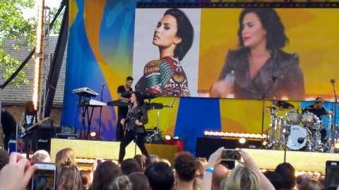 Demi Lovato - Neon Lights, live on GMA Central Park NY 2016