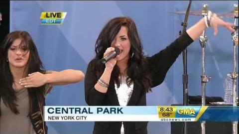 Demi Lovato - Can't Back Down (Live On Good Morning America) - Camp Rock 2 HD