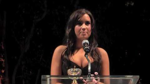 Demi Lovato Honorary Ambassador speech