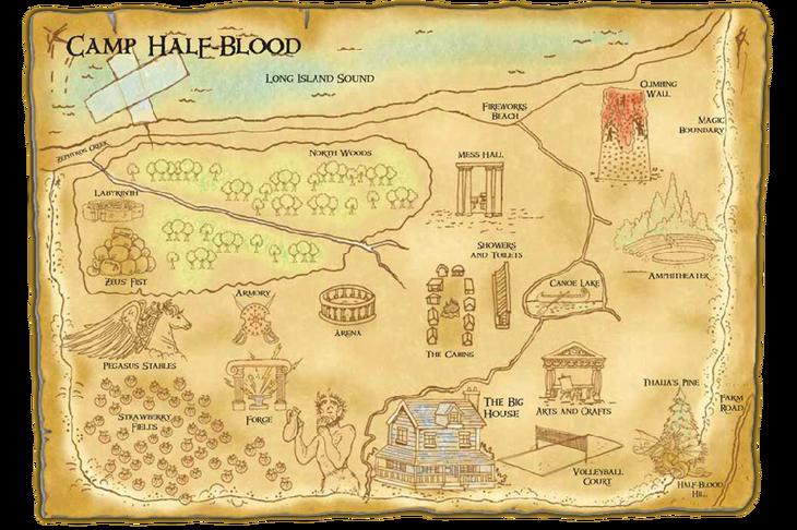 Camp Half Blood Map