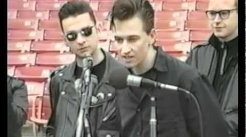 Depeche Mode anuncio del concierto 101