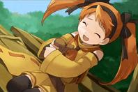 Lina squirrel hug