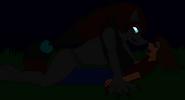 Zoroark tackles baxter