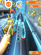 Minion Rush Gru's Rocket in Action