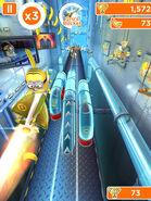 Minion Rush Gru's Rocket in Action