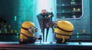 Gru assembling the minions