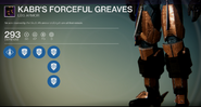 Kabr's Forceful Greaves