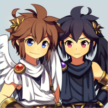 Pit and dark pit by wusagi2-d7jo4wq