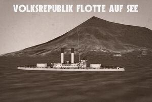 Volksrepublik flotte auf see