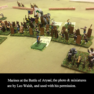 Minature Marines at the Battle of Aryaal