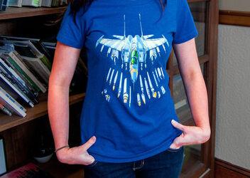Art Not Bombs T-Shirt -- Blue