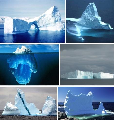 Iceberg-collage