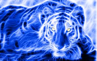 Blue electric tiger by gb art3-d6l7rj5