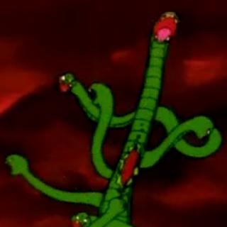 Muzan disguised as a hydra like demon