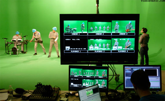 File:DEVO Fresh Videoshoot Greenscreen.jpg