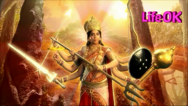 File:Eight-Armed Goddess Adishakti Ready To Destroy Creation.png