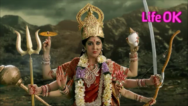 File:Eight-Armed Goddess Durga Ready To Kill Dhumralochan.png
