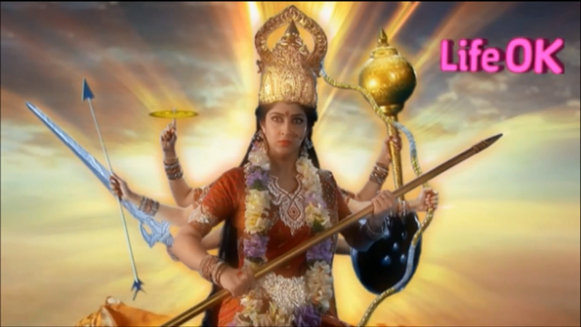 File:Eight-Armed Infuriated and Radiant Goddess Durga.png
