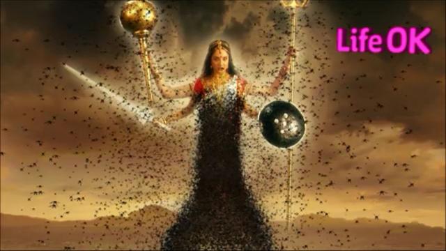 File:Infuriated Four-Armed Goddess Bhramari Devi.png