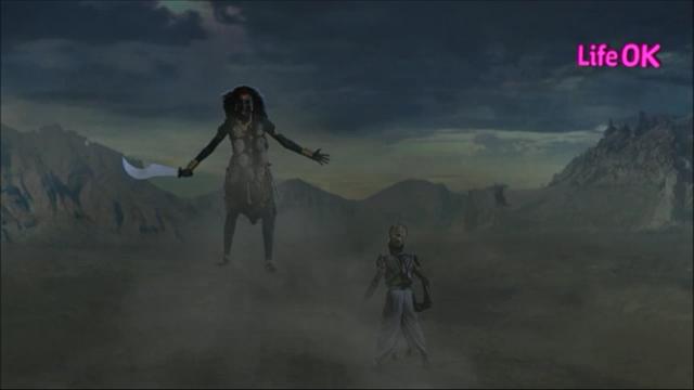 File:Goddess Kali Engulfs The Creation in Front of Shankhchud.png