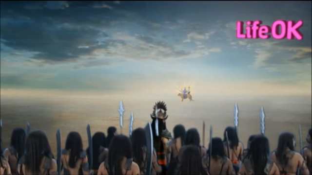File:Eight-Armed Goddess Durga Confronts Durgasur and His Armies.png