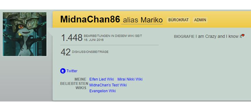 Benutzer MidnaChan86 – Mainpage