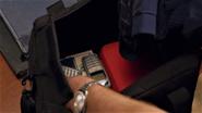 Inside getaway bag